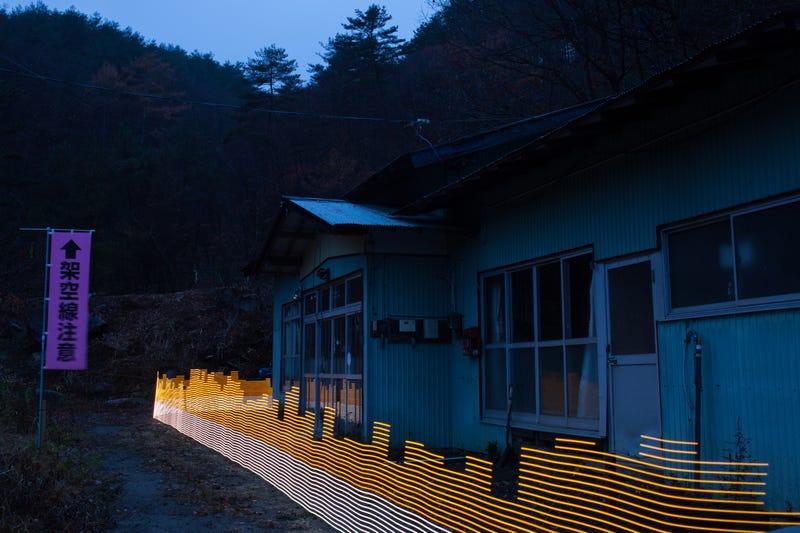 La radiación que rodea una casa abandonada en Iitate, Fukushima. Imagen: Greg McNevin / Greenpeace