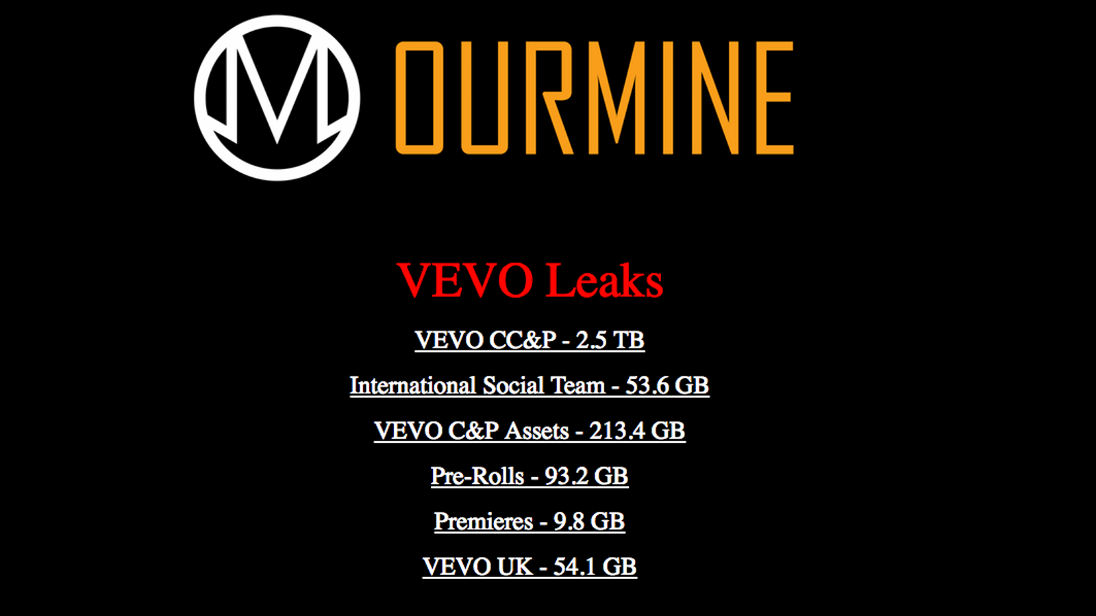 Welp, Vevo Just Got Hacked
