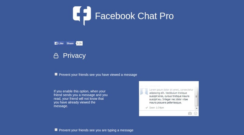 Illustration for article titled Facebook Chat Pro Customizes Notifications, Privacy for Messenger