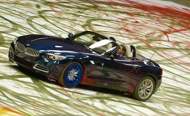 2010 bmw z4 plays with paint in massive art piece. Black Bedroom Furniture Sets. Home Design Ideas