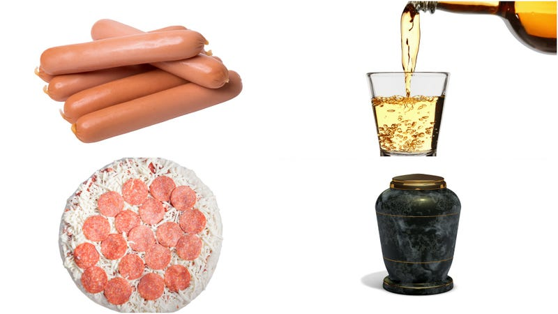 Illustration for article titled Hot dogs, whiskey, frozen pizza, cremated remains stolen from South Carolina apartment