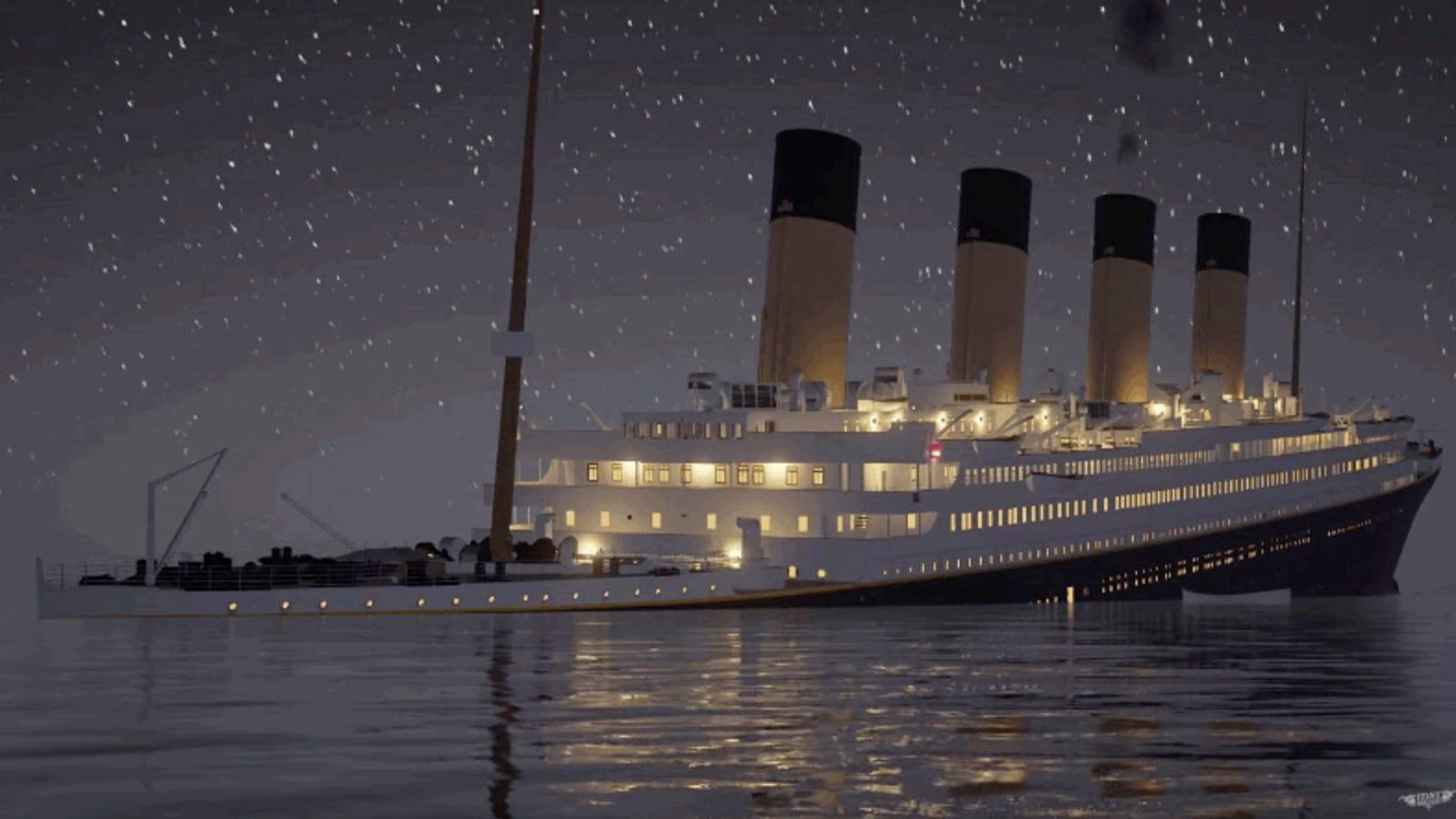 Este vídeo de casi tres horas revive cada detalle del naufragio del Titanic en tiempo real