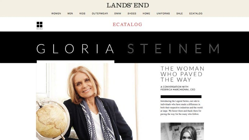 Illustration for article titled Did Lands' End Delete an Interview With Gloria Steinem to Please Pro-Lifers?