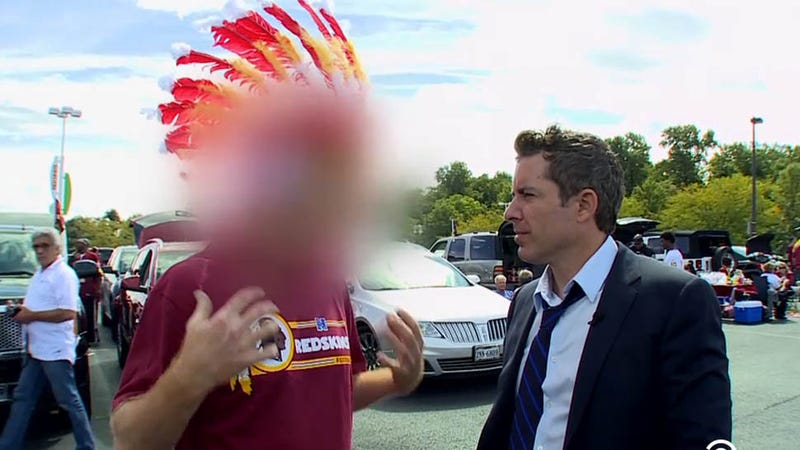 Illustration for article titled Here's The Daily Show Showdown That 'Defamed' Racist Redskins Fans