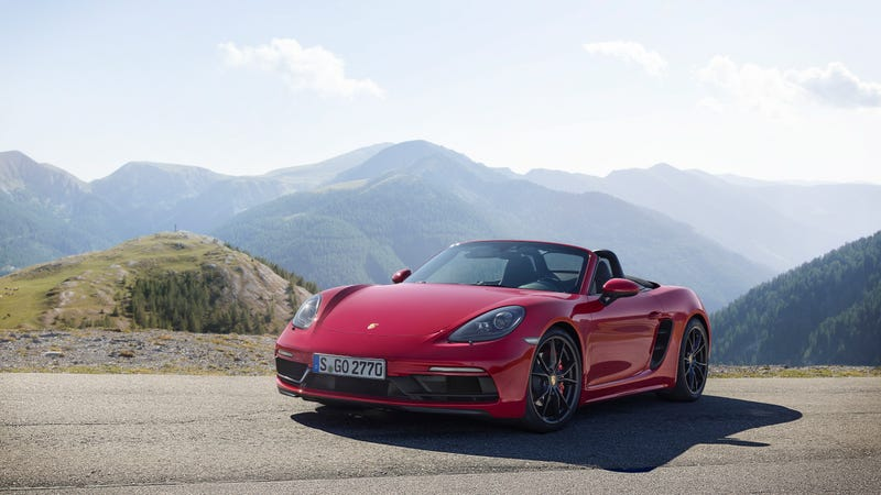 Pictured: A Porsche 718 Boxster GTS