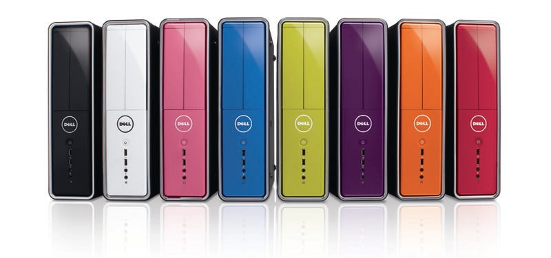 Illustration for article titled Dell Inspiron Towers Are Like Skittles: Cheap, Tiny and Rainbow-y