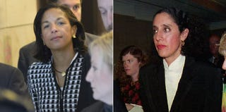 Susan Rice in 2012; Lani Guinier in 1993 (Getty Images)