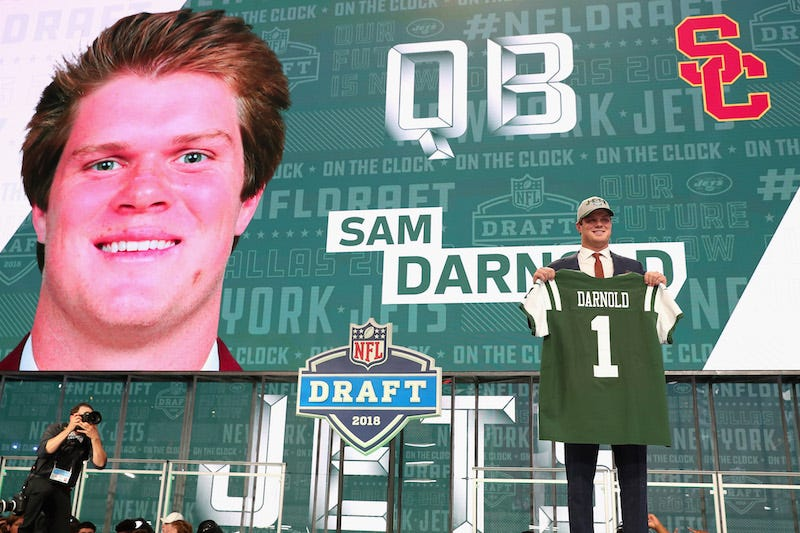 Illustration for article titled Dear The Jets: What The Hell Are You Doing With Sam Darnold?