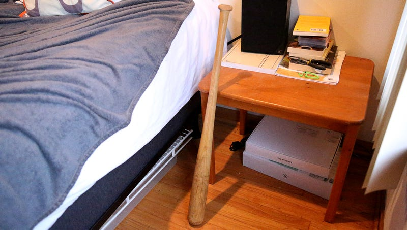 Illustration for article titled Man Always Sleeps With Bat Beside Bed Just In Case Any Major League Pitchers Try To Break In