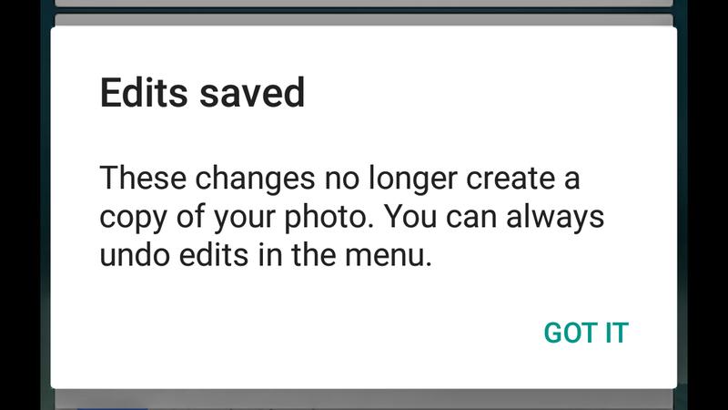 Illustration for article titled Google Photos Gets Non-Destructive Editing, No Longer Duplicates Photos