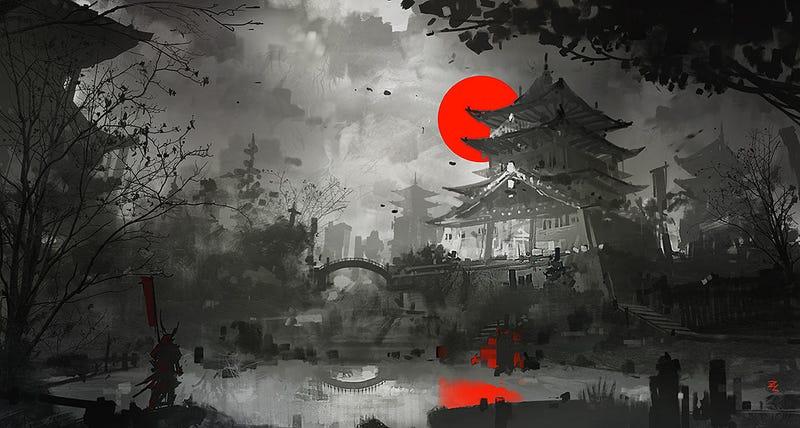 Illustration for article titled A Blood Red Sunset Over Osaka