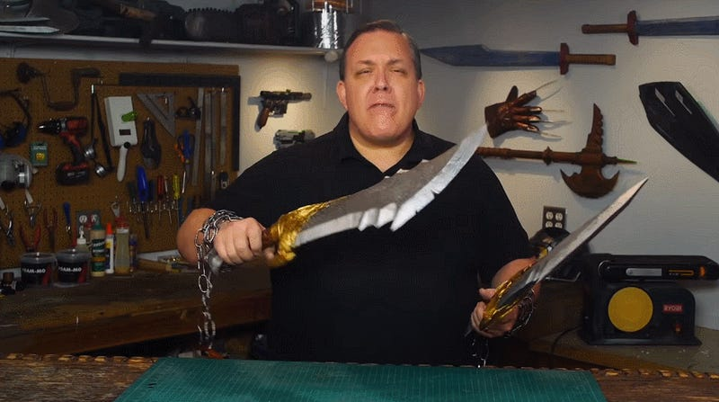God of War's Blades of Chaos Are Cool Even When They're Made From Foam