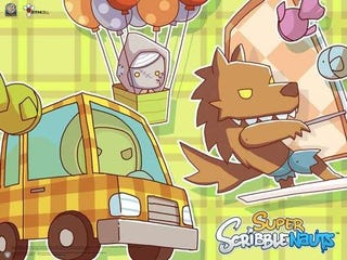 Illustration for article titled Super Scribblenauts' Surfer Werewolves and Balloonist Zombies