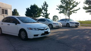 Honda Party in the Employee Parking Lot