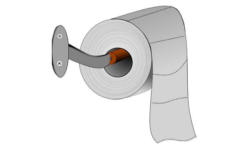 Esta es la forma correcta de colocar el papel higi nico en for Papel para azulejos de bano