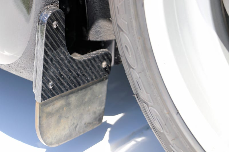 Illustration for article titled Are These The Most Expensive Mud Flaps Ever Fitted To A Car?