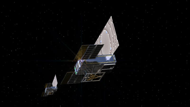 Artist's concept of a Mars Cube One satellite