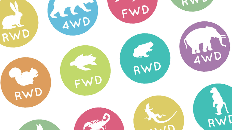 Illustration for article titled This Infographic Tells You If Your Favorite Animal Is RWD, FWD Or AWD