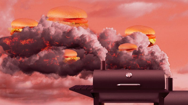 Illustration for article titled What happens when you smoke a whole cheeseburger