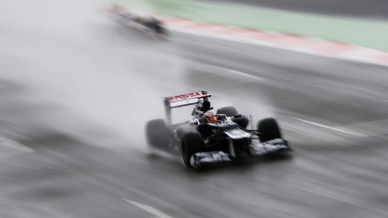 Illustration for article titled The British Grand Prix Was Ridiculously Wet