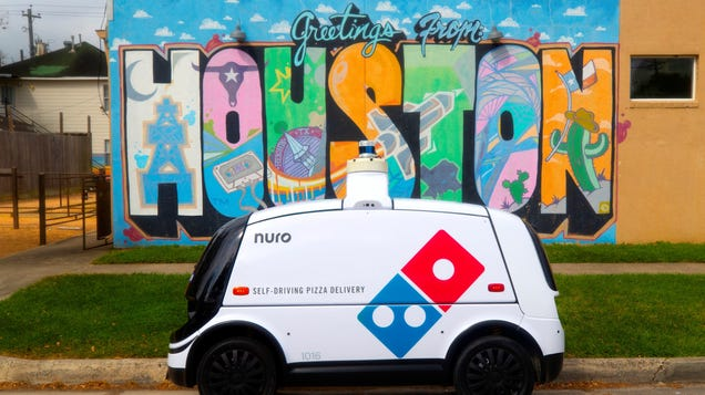 Domino's Has a New Pizza Delivery Robot That Lets You Track Your Order While It Drives It Over