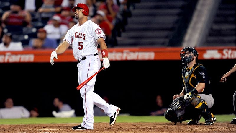 Illustration for article titled Pujols Switches To Shiny Red Bat As Mid-Career Crisis Sets In