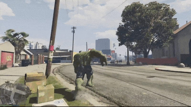 GTA 5 Hulk Mod is Better Than Actual Hulk Games