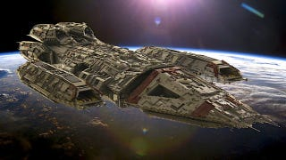 Illustration for article titled The ships of Battlestar Galactica, immortalized in thousands of LEGO bricks