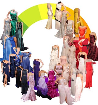 Illustration for article titled Rainbow Coalition: A Color Wheel Of Oscar Gowns