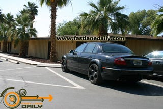 Illustration for article titled 2010 Jaguar XF-R Spotted Testing In Death Valley, Sporting Vantage Power?