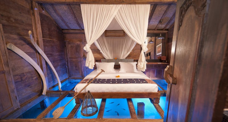 Illustration for article titled This Glass-Bottomed Hotel Room Lets You Sleep With the Fishes