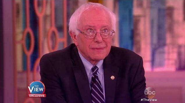 Bernie Sanders Can't Bring Himself To Say Anything Nice About Donald Trump or Ted Cruz