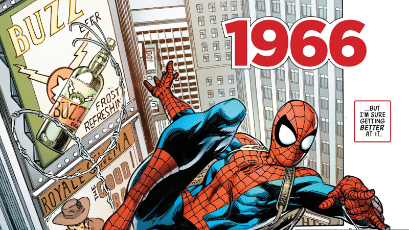 Spider-Man swings through the sixties in Life Story #1.