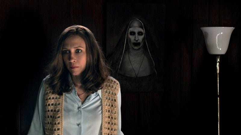 Lorraine Warren (Vera Farmiga) is haunted by disturbing visions in The Conjuring 2. (All images: Courtesy of Warner Bros. Pictures)