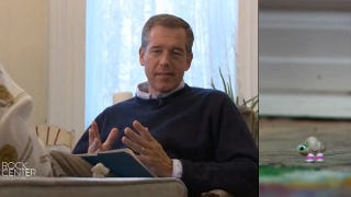 Illustration for article titled Brian Williams Interviews Marcel The Shell