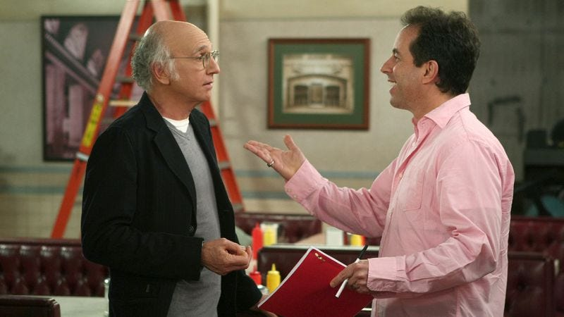 Illustration for article titled Scarsdale surprise: Jerry Seinfeld and Larry David's secret project might be a Broadway play