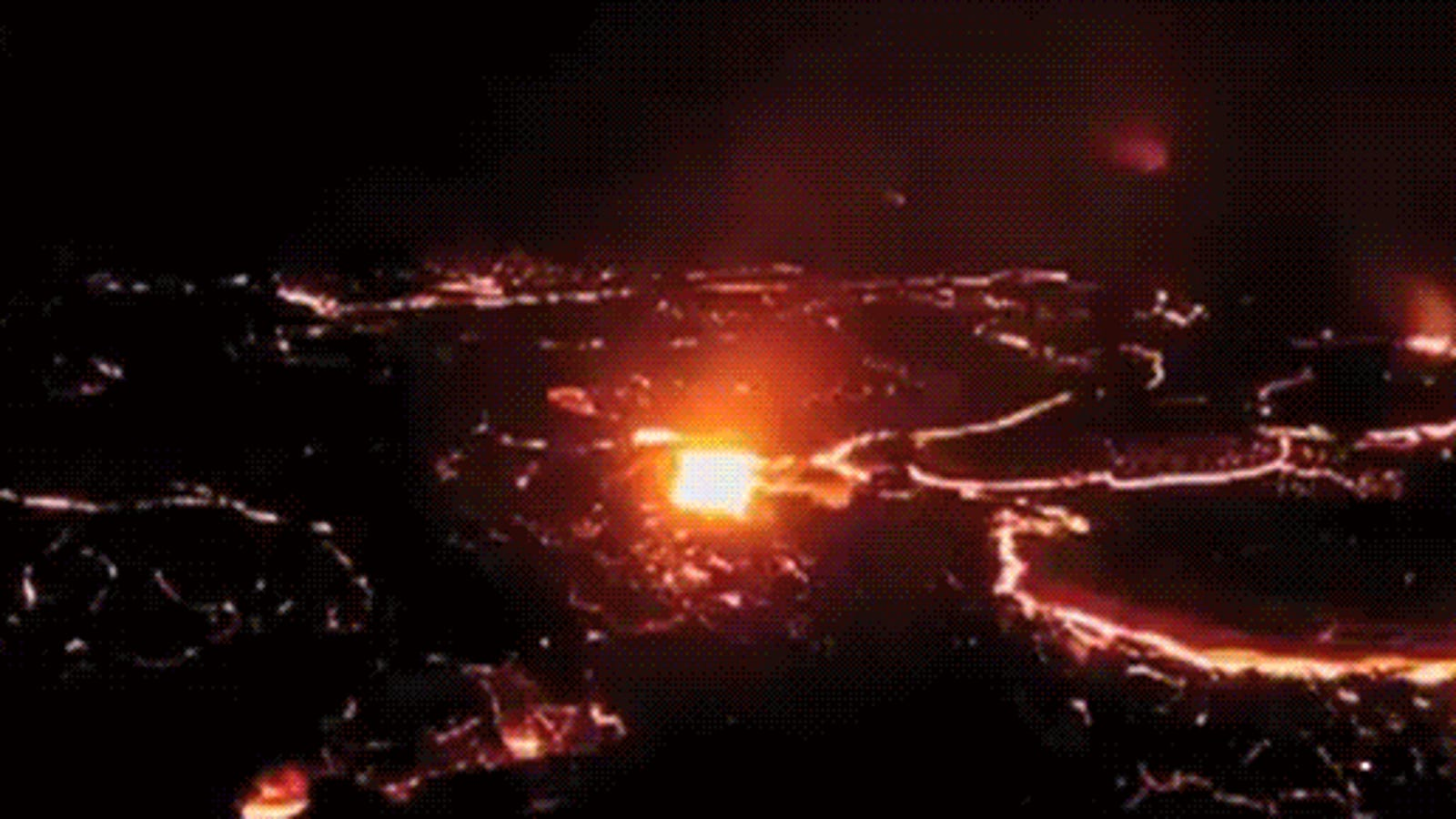 The gates of hell open in this time-lapse video