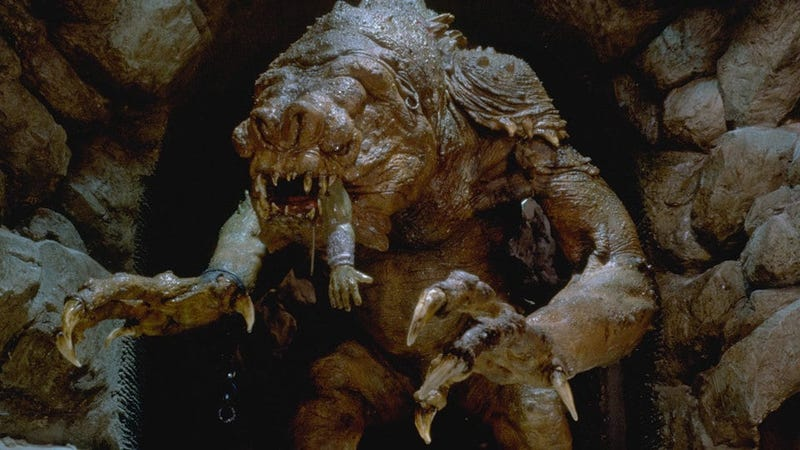 Look, it's a rancor! Aaa!