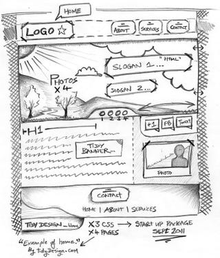 Illustration for article titled Mockup a Website Using Software Instead of Paper