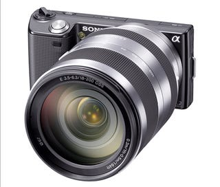 Illustration for article titled Sony NEX-5 and NEX-3 Interchangeable Lens Cameras Go Official With HD Shooting