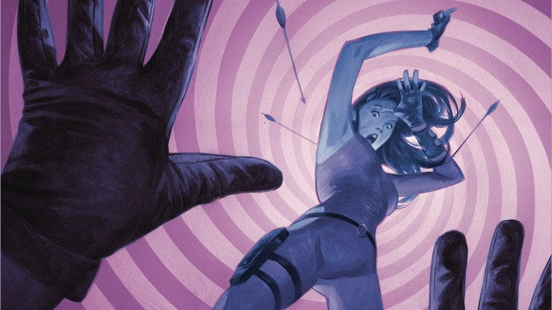 Illustration for article titled Kate Bishop deals with her daddy issues in this Hawkeye #8 exclusive
