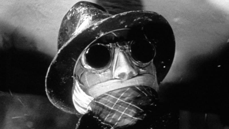 An image from the 1933 Invisible Man.