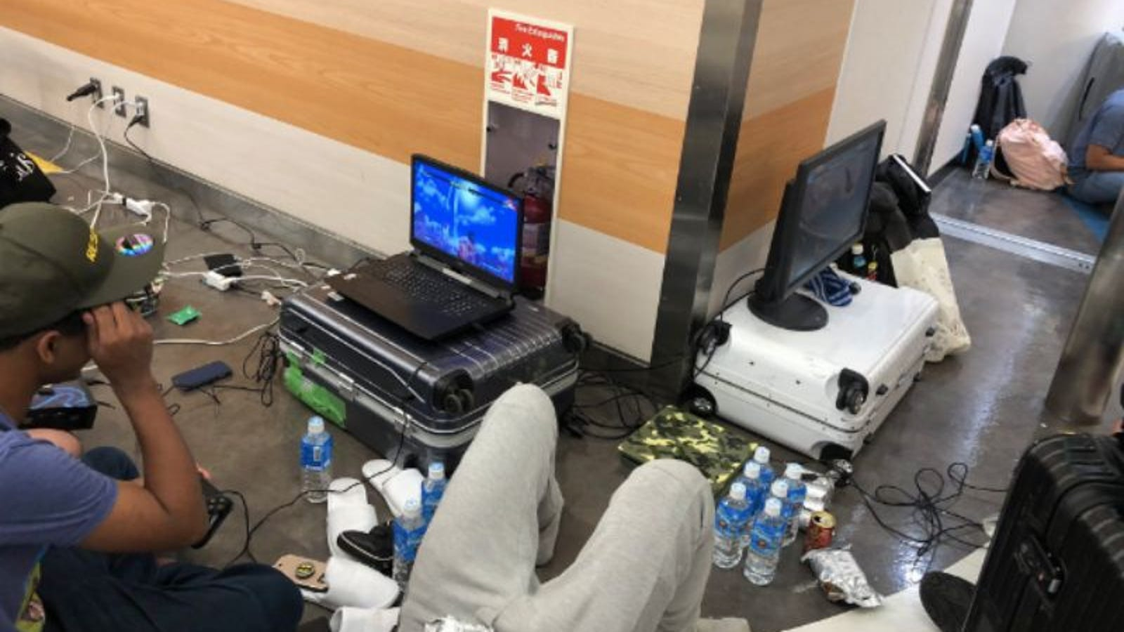 Stranded Pro Gamer Criticized For Using Airport's Electricity