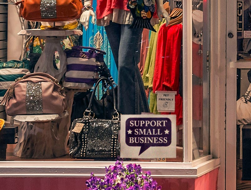 Illustration for article titled 'Support Small Business' Demands Sign In Window Of Boutique Open Five Hours A Day, Three Days A Week