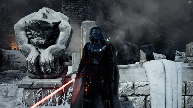 Illustration for article titled Darth Vader Is Pretty Good at Unreal Engine 4 Demos