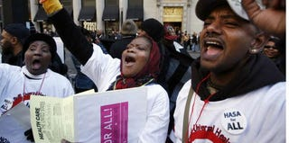 ACT UP activists hold 20th anniversary rally in 2007. (Michael Nagle/Getty Images)