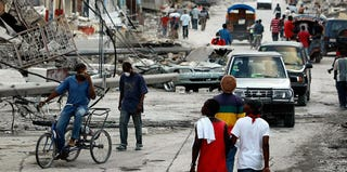 Port-au-Prince, January 2010 (Joe Raedle/Getty Images)