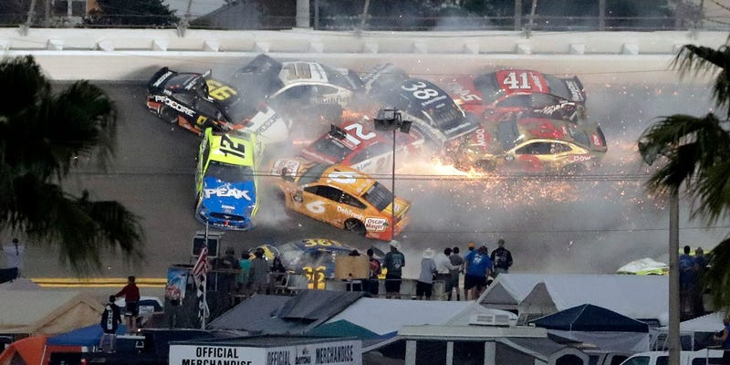 Illustration for article titled The Big One at Daytona just happened