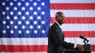 Ray Allen speaks during a political fundraiser at the Boston Center for the Arts on May 18, 2011.MANDEL NGAN/AFP/Getty Images