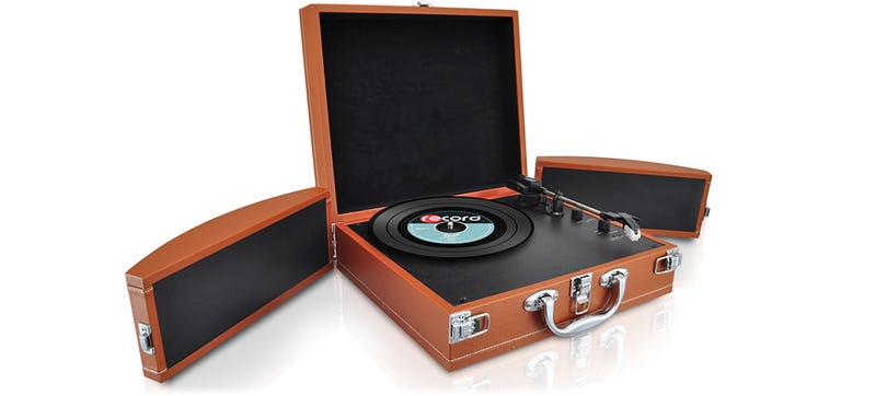 Ilration For Article Led This Transforming Briefcase Turntable Is A Walkman Your Records